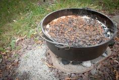 El cocinar del zapatero del arándano Foto de archivo libre de regalías