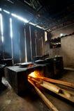 El cocinar en cocina rural Fotografía de archivo libre de regalías