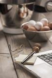 El cocinar en línea Imagenes de archivo