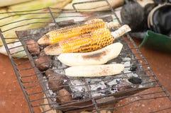 El cocinar en la rejilla Foto de archivo