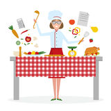 El cocinar femenino del cocinero Fotos de archivo libres de regalías