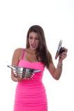 El cocinar inexperto Foto de archivo libre de regalías