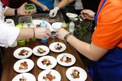 El cocinar italiano Foto de archivo libre de regalías