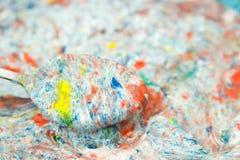 El cocinar loco de muchos colores Imagen de archivo