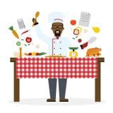 El cocinar masculino del cocinero ilustración del vector