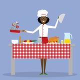 El cocinar masculino del cocinero Imagen de archivo libre de regalías