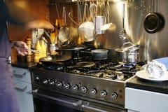 El cocinar ocupado Imágenes de archivo libres de regalías