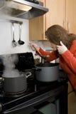 El cocinar - prueba Fotos de archivo