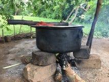 El cocinar srilanqués foto de archivo libre de regalías