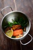 El cocinar vegetal del caldo Imagenes de archivo