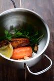 El cocinar vegetal del caldo Imagen de archivo libre de regalías
