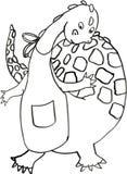 El cocinero b/w del dragón libre illustration