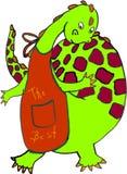El cocinero del dragón stock de ilustración