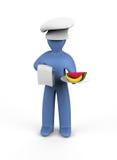 El cocinero ofrece la comida sana Imagenes de archivo