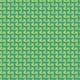 El coco tejido sale vector del fondo inconsútil del modelo stock de ilustración