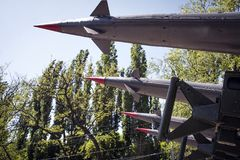 El cohete se dirige el cielo Imágenes de archivo libres de regalías