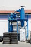 El colector de polvo industrial del neumático del camión retrocede la fábrica Foto de archivo