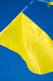 El colgar en las banderas del día de fiesta del viento Imagenes de archivo