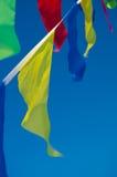 El colgar en las banderas del día de fiesta del viento Imagen de archivo libre de regalías