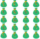 El collage de bolsas Imagen de archivo libre de regalías