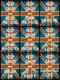 El collage de la foto de diverso guarda mensajes tranquilos Foto de archivo libre de regalías