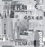 El collage de la fuente de las inscripciones stock de ilustración