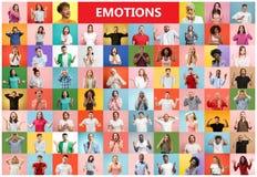 El collage de la gente sorprendida imagen de archivo libre de regalías