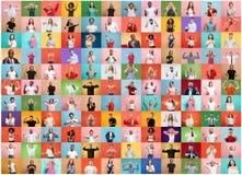 El collage de la gente sorprendida fotos de archivo libres de regalías