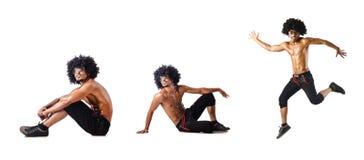 El collage de los bailarines aislados en el fondo blanco Foto de archivo