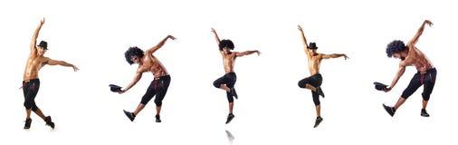 El collage de los bailarines aislados en el fondo blanco Imagenes de archivo