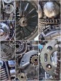 El collage del robot parte mecánico Fondo del steampunk imágenes de archivo libres de regalías