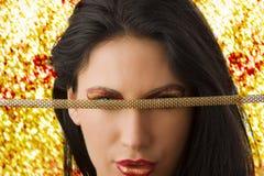 El collar sobre ojos Imágenes de archivo libres de regalías