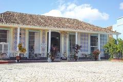 EL colonial Jigue - Trinidad do restaurante da construção, Cuba Fotografia de Stock Royalty Free