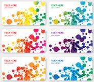 El color abstracto manchó tarjetas de la visita de las banderas Foto de archivo