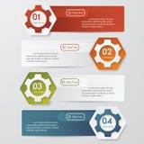 El color adapta la bandera de las opciones del número de Infographics. stock de ilustración