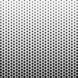 El color blanco y negro abstracto del círculo forma el modelo de semitono ilustración del vector
