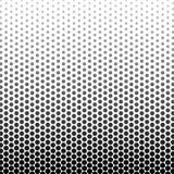 El color blanco y negro abstracto del círculo forma el modelo de semitono libre illustration