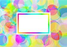 El color burbujea fondo Ilustración del Vector