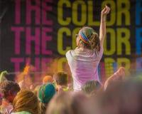 El color corre en Praga, República Checa Fotografía de archivo