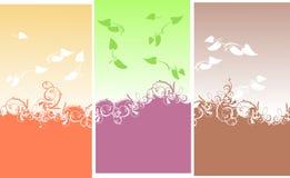 El color curva el fondo de las hojas Imágenes de archivo libres de regalías