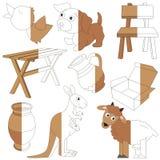 El color de Brown se opone, el juego grande del niño que se coloreará por ejemplo medio libre illustration
