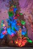 El color de la cueva de la corona, Guilin, China Imagen de archivo