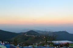 El color de la puesta del sol Imagen de archivo