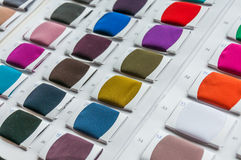 El color de la tela muestrea la gama de colores Fotografía de archivo libre de regalías