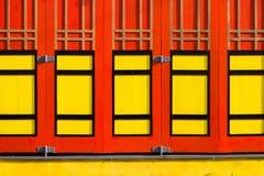 El color de la ventana china de la casa Foto de archivo