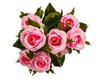 El color de rosa artificial se levantó Foto de archivo