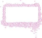 El color de rosa burbujea marco rectangular stock de ilustración
