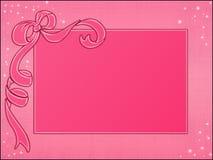 El color de rosa enmarca el modelo Imagen de archivo libre de regalías