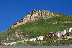 El color de Tíbet de China asciende la montaña de dios, Fotos de archivo libres de regalías