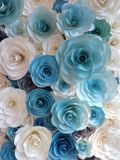 el color del papel subió Imagen de archivo
